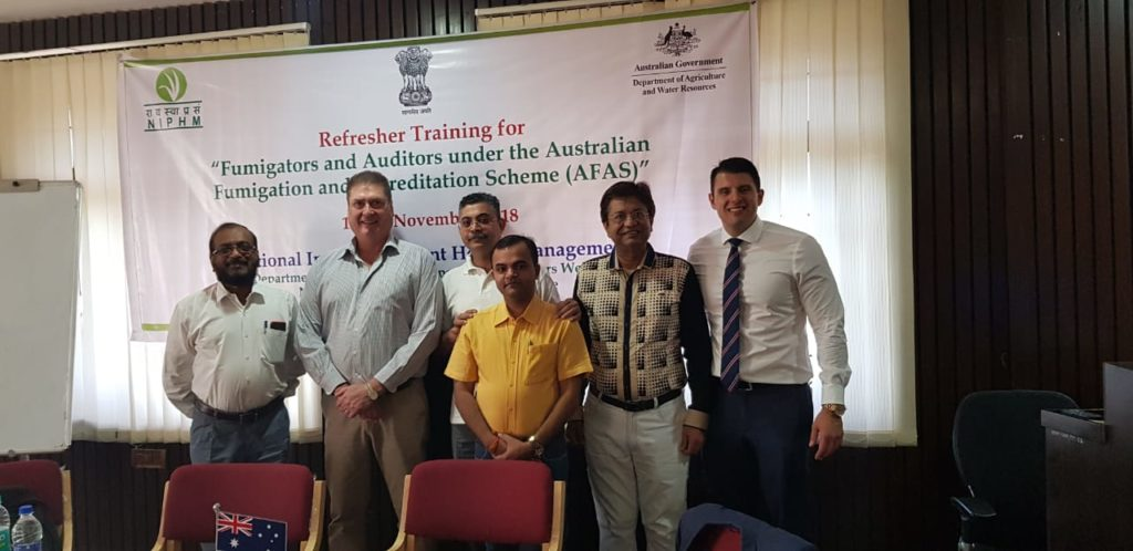 Fumigators and Auditors under the Australian Fumigation and Accreditation Scheme (AFAS)