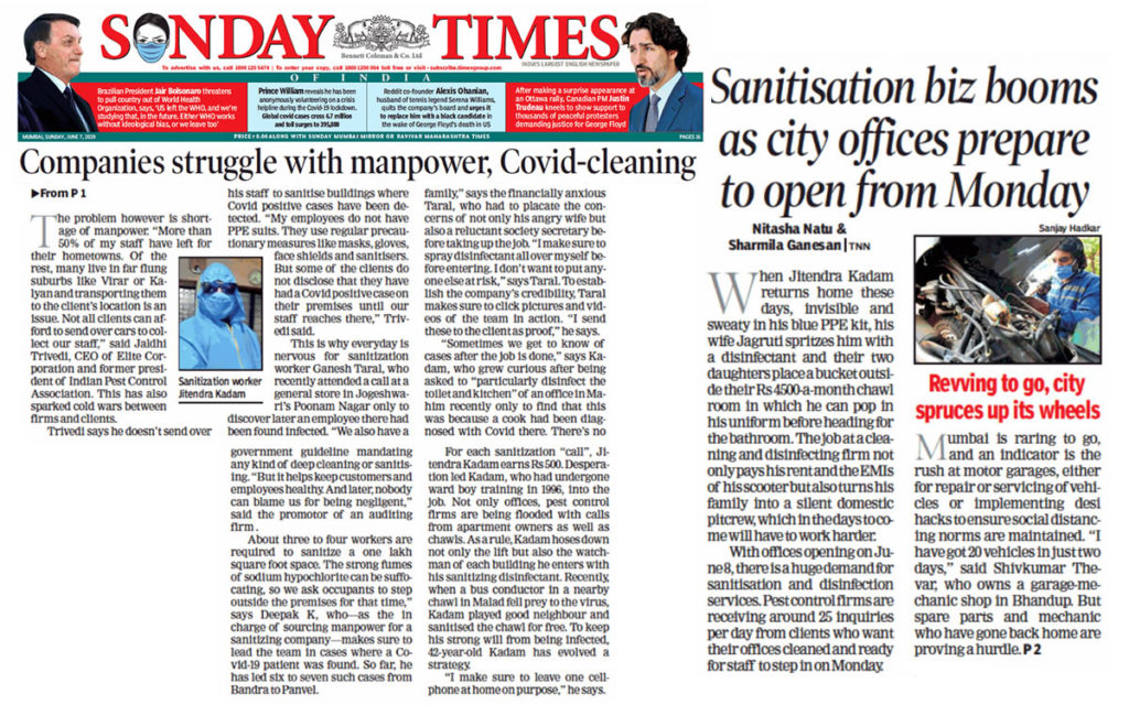 Sanitisation business booms as Mumbai offices prepare to open